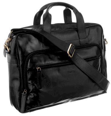 Velká kožená pánská taška na notebook 15 palců Rovicky