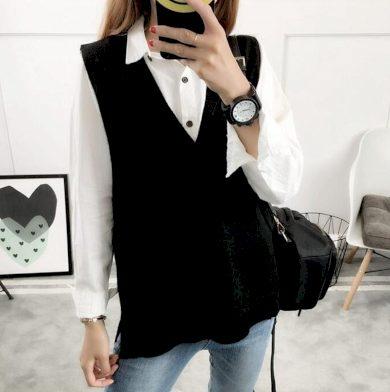 Dámská pletená vesta G321 FashionEU