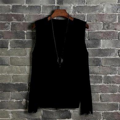 Dámský pletená vesta s třásněmi FashionEU