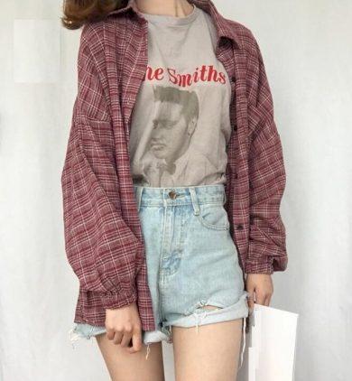 Dámská košile s kostkovaným vzorem FashionEU