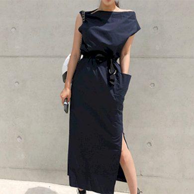 Asymetrické letní maxi šaty FashionEU
