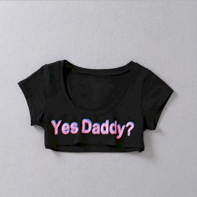 Dámský crop top Yes Daddy FashionEU