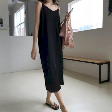 Dámské maxi šaty na ramínka FashionEU