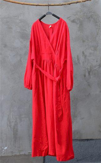 Dámské bavlněné maxi šaty FashionEU