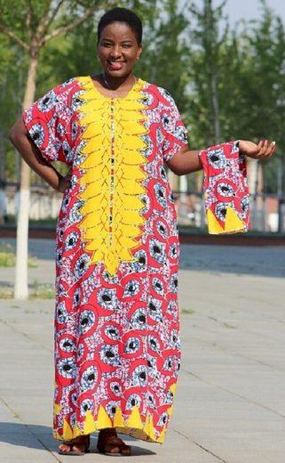 Dlouhé etno šaty FashionEU