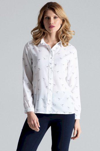 Vzorovaná košile s dlouhými rukávy a límcem M284 FIGL