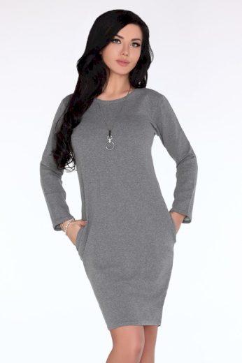 Sportovní šaty Colenna s dlouhým rukávem s půlkruhovým výstřihem