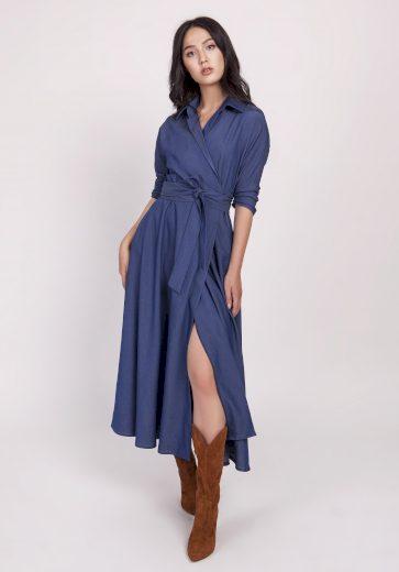 Dlouhé džínové šaty SUK173 LANTI