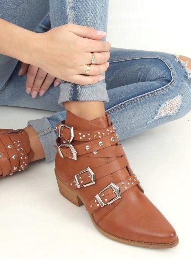 Kovbojské boty s cvočky  CK568