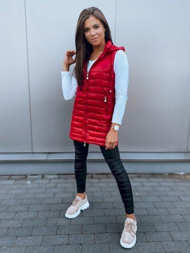 Dámská prošívaná vesta JESS červená Dstreet TY1862z