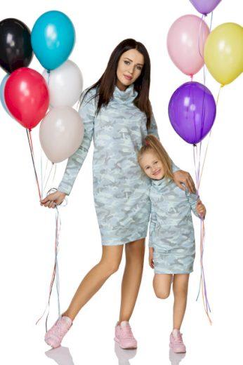 Teplákové šaty dámské se vzorem MMM6 MiniMom
