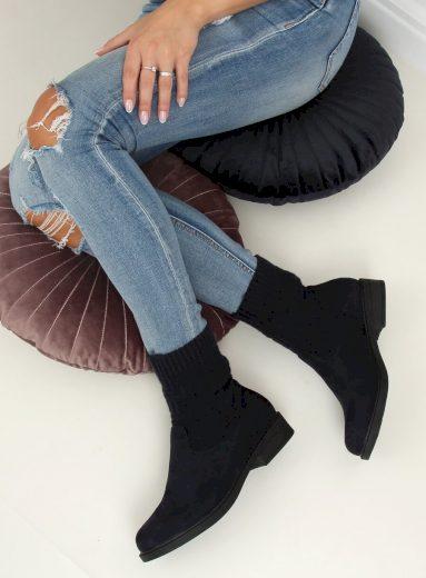 Ponožkové polokozačky pro dámy E2100