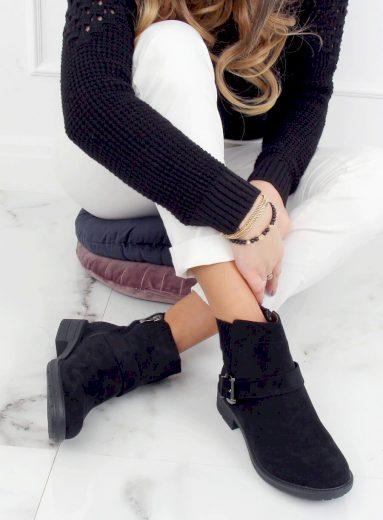 Černé dámské boty E2210