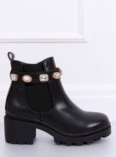 Černé boty Chelsea HE107