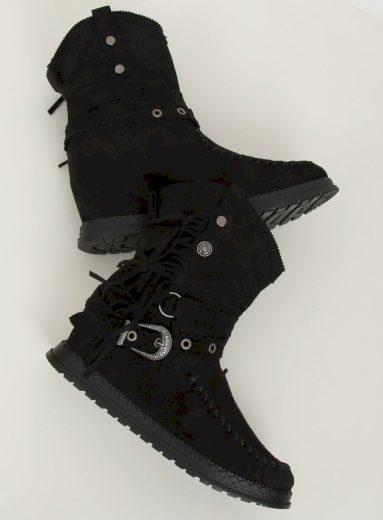 Černé boty ve stylu boho ST-17P