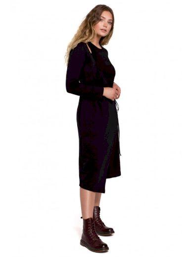 B206 Zavinovací šaty s asymetrickou přední částí BeWear