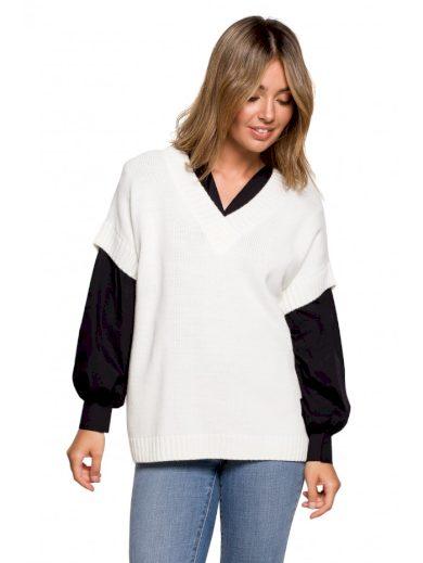 Pletená vesta s výstřihem do V BeWear BK076