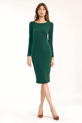 Smyslné šaty s výstřihem na zádech NIFE S191