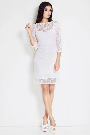 Elegantní krajkové šaty s 3/4 rukávy S17 AWAMA