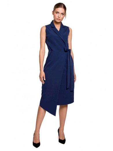Blazerové šaty bez rukávů s límečkem S275
