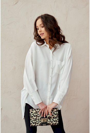 Oversize dámská košile se zavazováním 0125