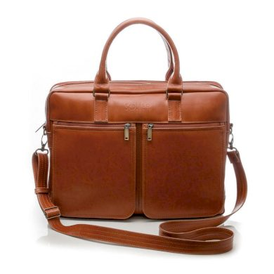 Pánská kožená taška přes rameno aktovka na notebook SL01