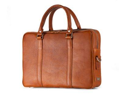 Kožená taška na notebook Solier SL25 vintage