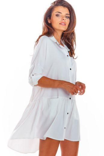 Volné košilové šaty s límečkem A300 AWAMA