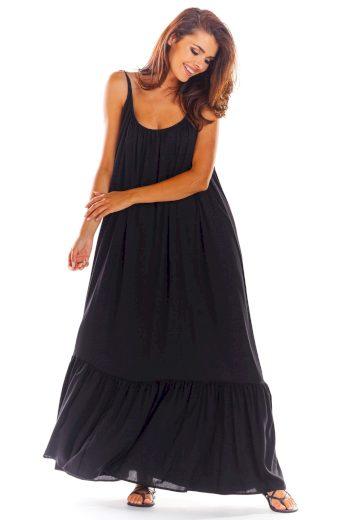 Volné oversize šaty s výstřihem na zádech A307