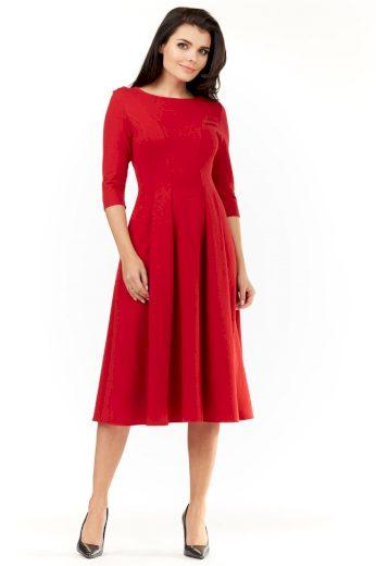 Elegantní šaty pod kolena s dlouhými rukávy M155
