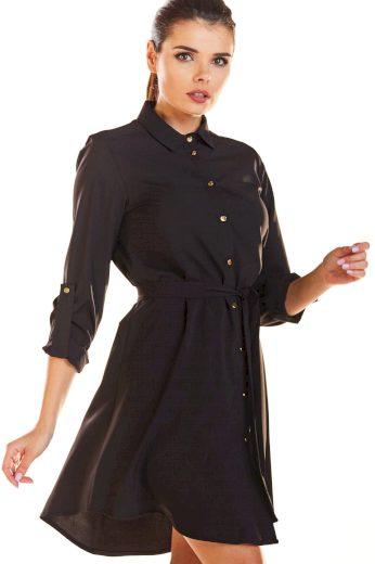 Mini košilové šaty s páskem v pase M200