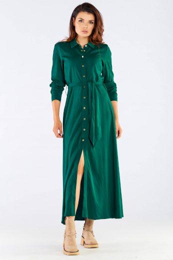 Maxi šaty s košilovým topem A451 AWAMA