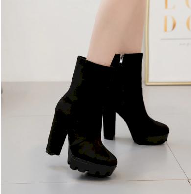 Dámské kotníkové boty leopard na podpatku se zipem
