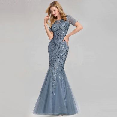 Dlouhé plesové třpytivé šaty se vzory s flitry velikosti AŽ 9XL