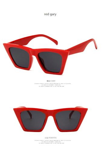 Módní sluneční hranaté brýle kvalitní Čtvercové UV400 kočičí oči
