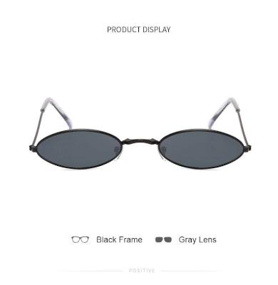 Retro malé oválné brýle sluneční kvalitní UV400 růžné barvy