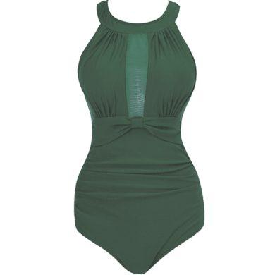 Jednodílné plavky se siťkou na prsách pro dámy