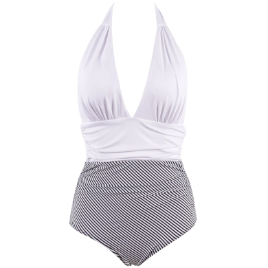 Kvalitní pruhované dámské plavky