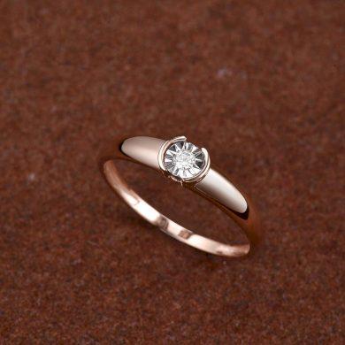 Snubní dámský prsten z růžového zlata