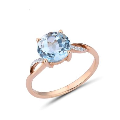 Nádherný zásnubní prsten s propletením