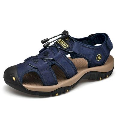 Pánské pohodlné sandály kožené zelené