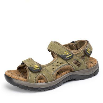 Prodyšné pánské sandály z pravé kůže