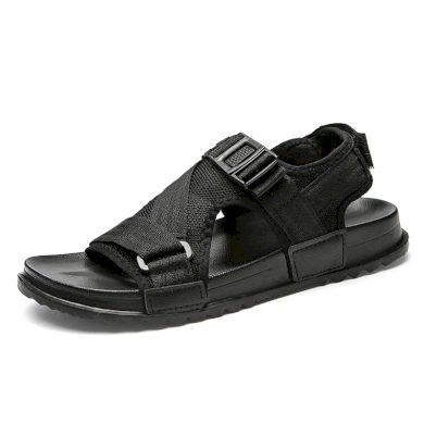 Síťované páskové pánské sandály šedé