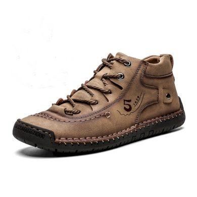 Pánske kotníkové zimní boty s tkaničkami