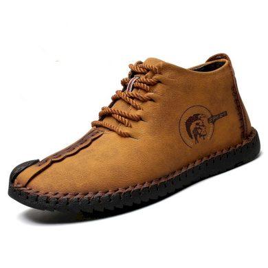 Pánské kotníkové zimní boty s teplým kožíškem