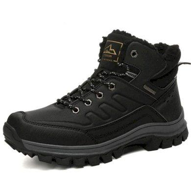 Teplé boty pro muže voděodolné černé barvy