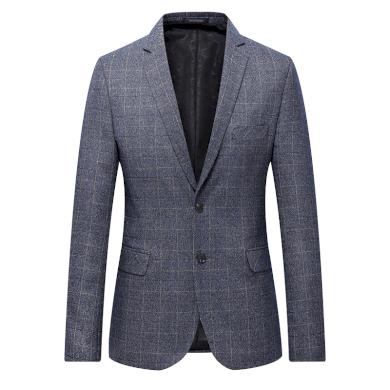 Klasické kostkované sako šedé barvy