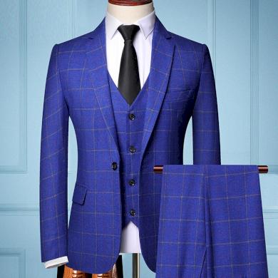 Kostkovaný oblek pro pany na každý den