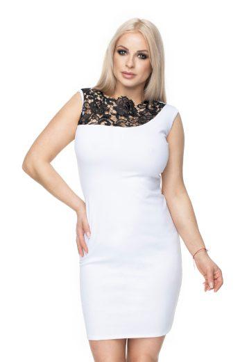 Mini pouzdrové šaty s krajkou bodycon šaty klasické bez rukávů