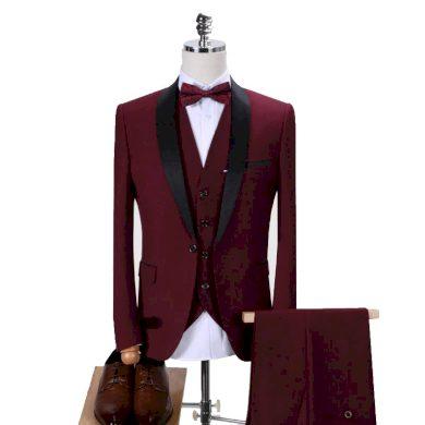 Společenský pánský oblek 3 sada sako kalhoty a vesta